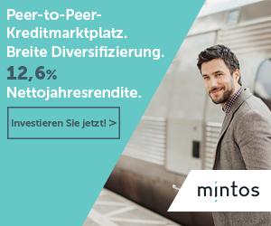 Minots.com ist die größte P2P-Lending Plattform. Hier ist ein Banner davon.